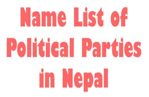 Name List of Political Parties in Nepal, Participated in CA Election 2013