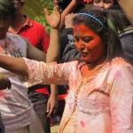 Nepali actresses Rekha Thapa Dancing Photos in Holi Festival