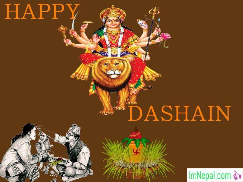 Happy Vijayadashami Bada Dashain Dasain Festival Nepal Greeting Wishing Card Image Pictures Wishes Messages Quotes Nepali English Ecards