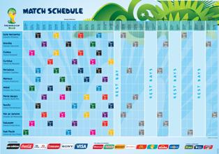 Fifa World Cup 2014 Match Schedule Pdf : Download Available