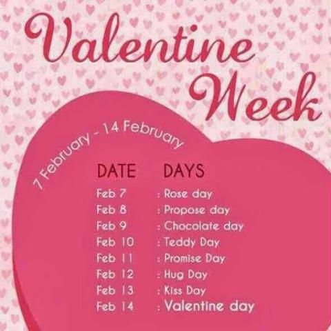 Valentine Week List 2014 / Valentine Week Schedule List 2014