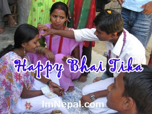 Happy Bhai Tika 2015 Quotes Wishing Cards for your brother or sister