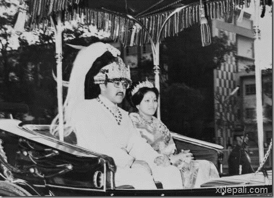 late king of Nepal birendra and Queen Aishwary Marriage Picture