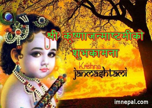 Krishna Janamashtami Wishes Quotes in Nepali Language