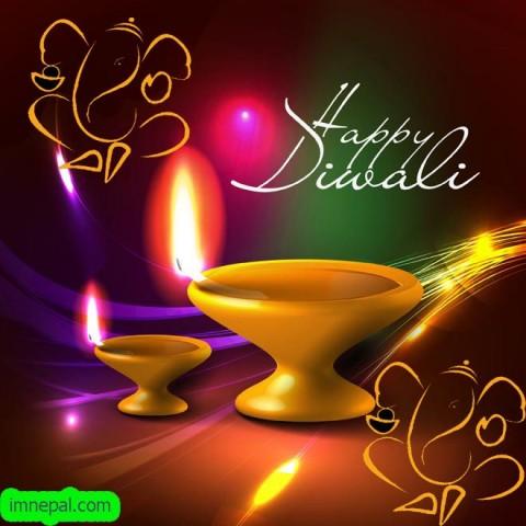 Happy Tihar Deepavali Diwali 2018 Animated GIF Cards