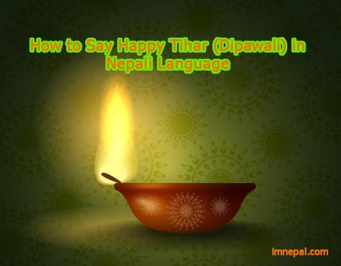 how to say happy tihar diwali dipawali in Nepali langauge learn Nepali langauge from English Online free