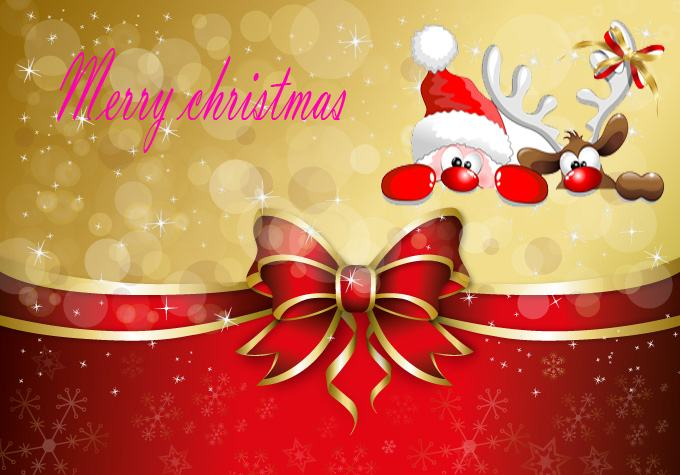 Happy merry Christmas greeting cards wishing wallpapers