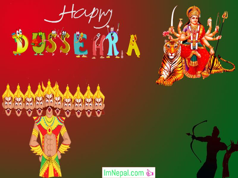 Happy Dussehra Dasara Dashara Greeting Cards Wishes Quotes Images HD Wallpapers Picture Navratri English Hindi Durga Mata