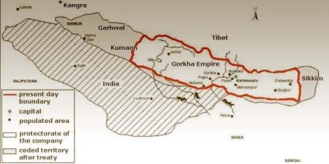 nepal-map-before-sugauli-treaty