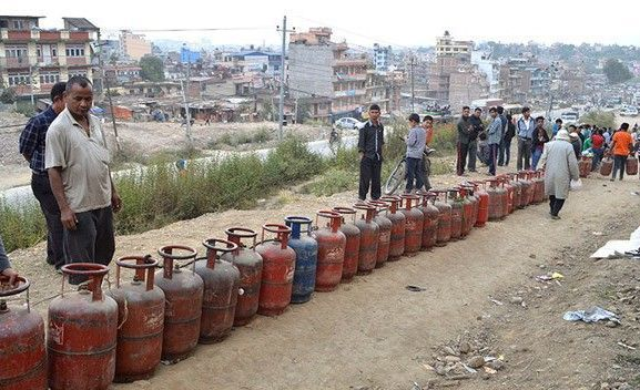 queue for cooking gas