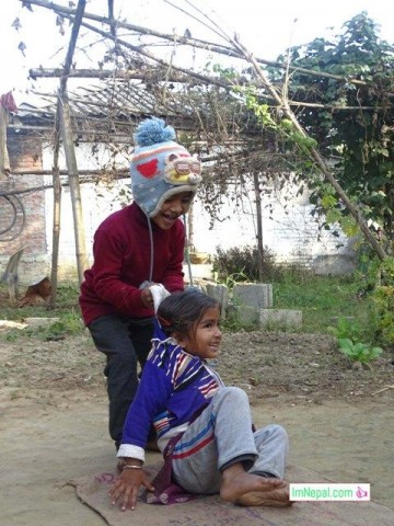 Fighting with the siblings was the best part of the childhood - Kids are Fighting and playing Image