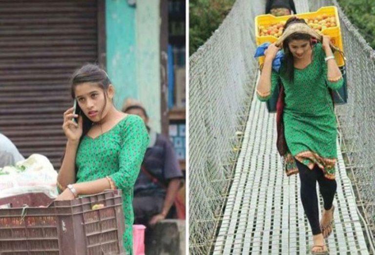 Kusum Shrestha - Vegetables Seller Girl in Nepal - Tarkariwaali