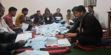 counting vote in Nepal