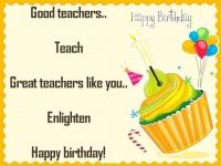 Happy Birthday Wishes SMS and Greetings for Teacher in English language