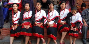 haku patashi in newari traditional dresses of Nepal