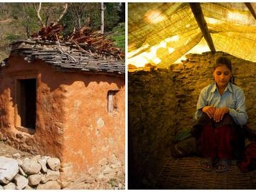 girl in nepal while means period time
