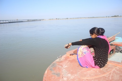 visitor in koshi Barrage of Nepal