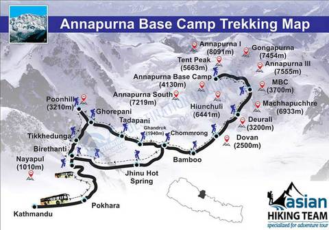 Annapurna Base Camp Treakking Map