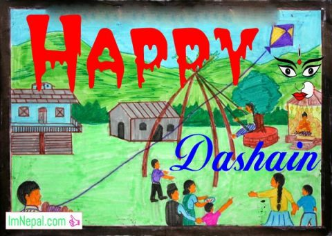 26 Happy Dashain 2075 | 2018 Greeting Quotes Cards with Nepali Wishes & SMS