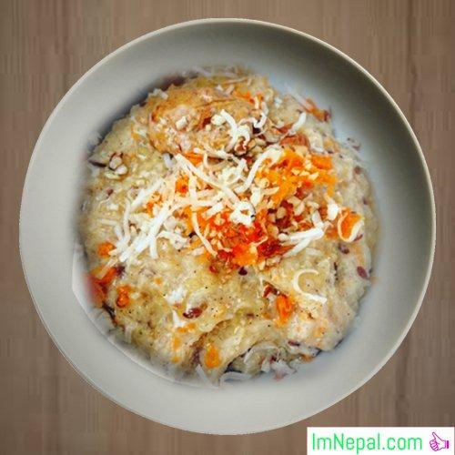 Carrot porridge sweet-recipe dish