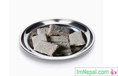 Coconut barfi sweet recipe Dish foods