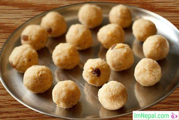 Rava Ladoos sweet recipes Foods Dish