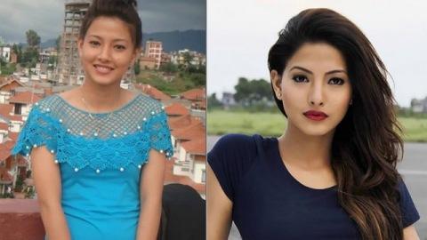 Samragee Rajya Laxmi Shah With & Without makeup