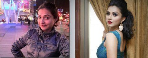 nisha-adhikari-after & before makeup
