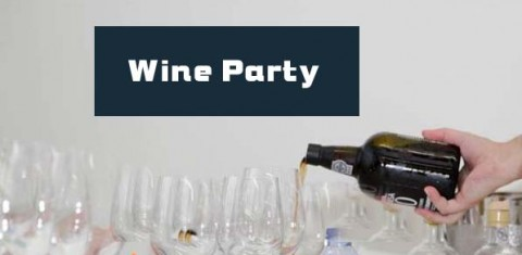 wine party man picture