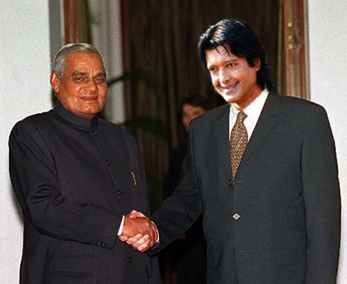 Nepali Actor Superstar Rajesh Hamal with Indian Politician Atal Bihari Bajpeyee