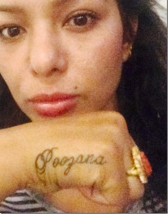 Nepali actress Poojana Pradhan tattoo picture