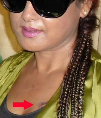 nepali actress mausami malla tattoo pictures