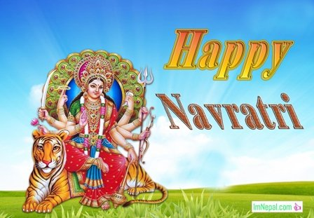 happy navratri greeting cards images