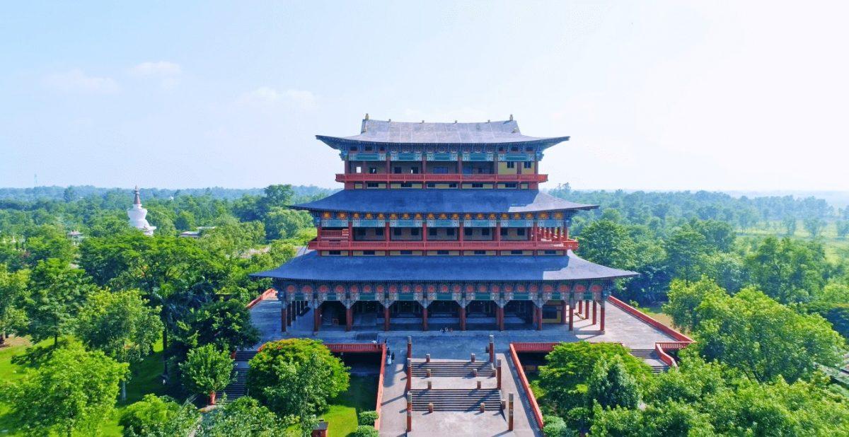 Korean buddhist temple in lumbini Nepal Birthplace of Lord Buddha