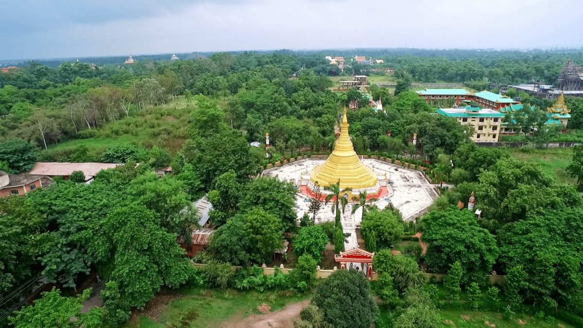 Myanmar Golden Temple, Lumbini Nepal Birthplace of Lord Buddha