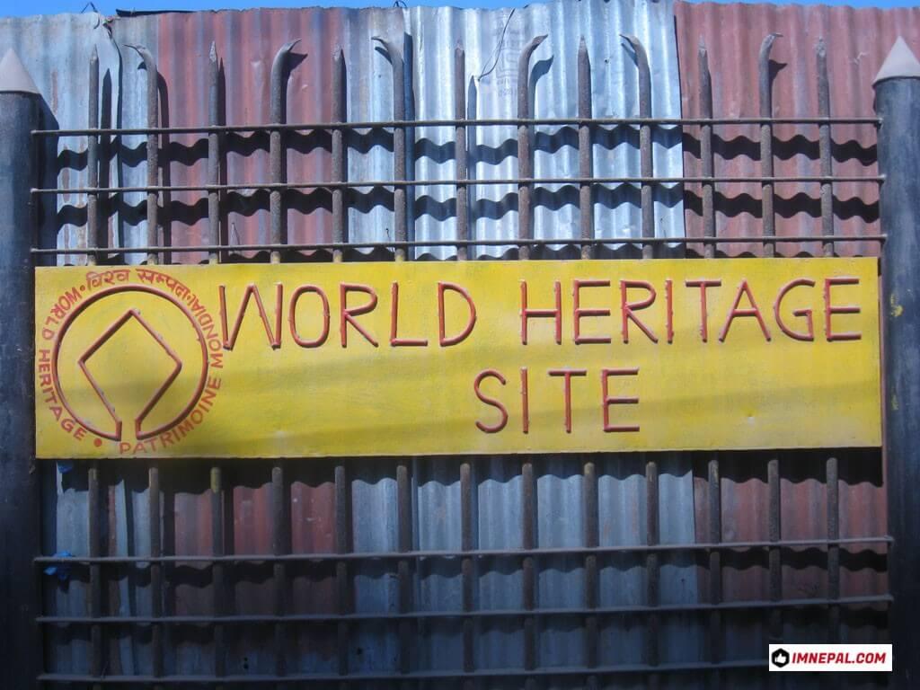 World Heritage Sites Board on Pashupatinath Temple Mandir Kathmandu Nepal Images