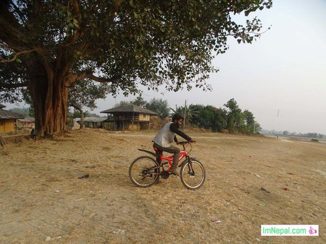 cycling in Remote or village area of Terai Madhesh Nepal