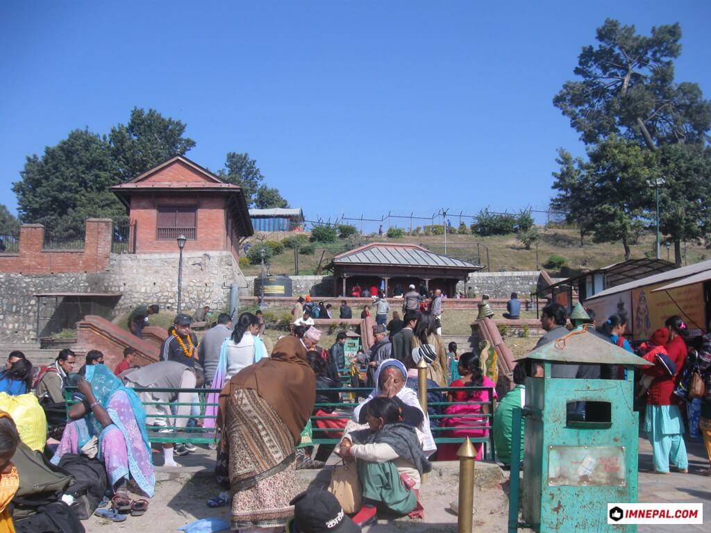 devotees Pashupatinath Temple Mandir Kathmandu Nepal World Heritage Site Photo