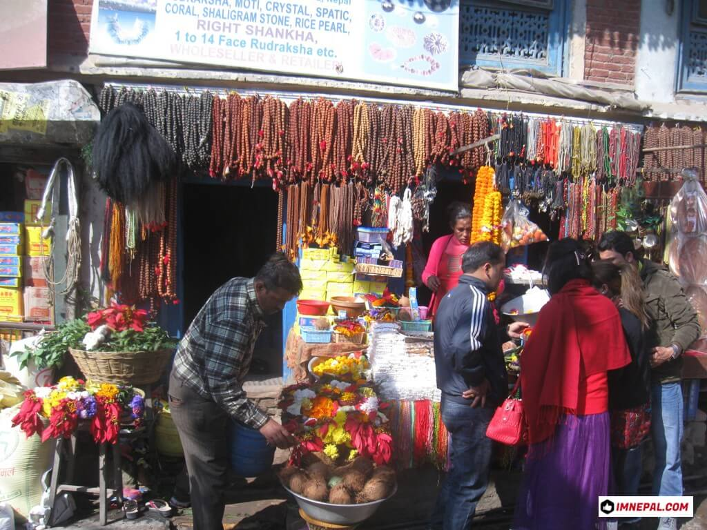 shops around Pashupatinath Temple Mandir Lord Shiva Kathmandu Nepal World Heritage Sites