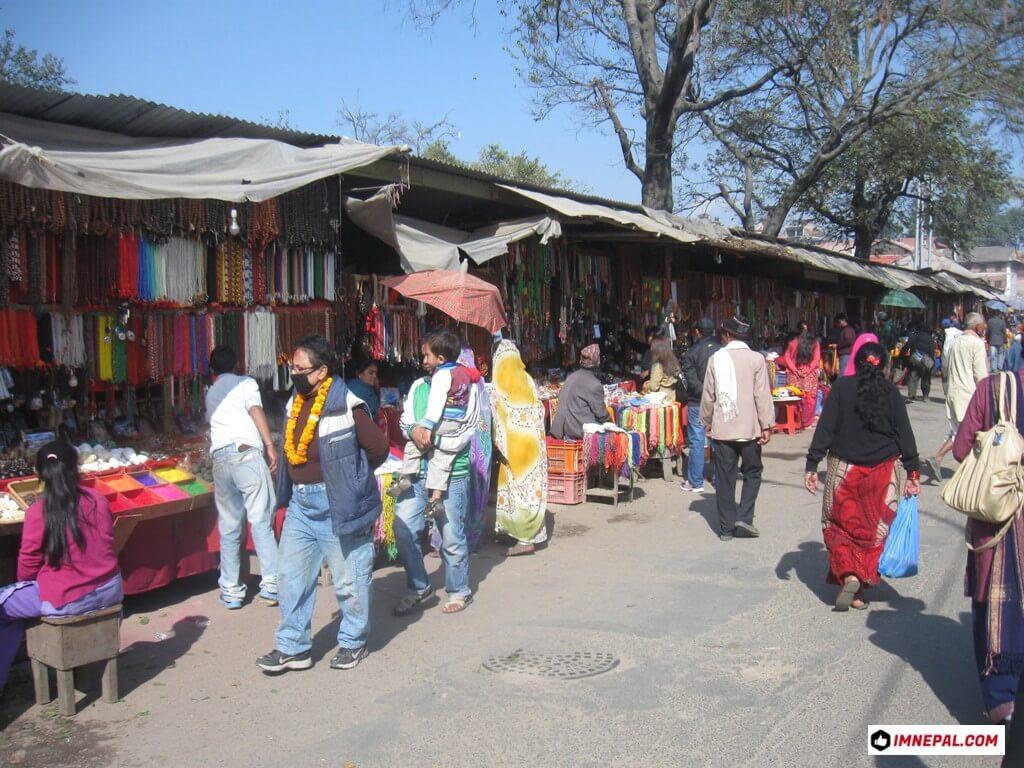 shops on Pashupatinath Temple Mandir Kathmandu Nepal World Heritage Site Photo