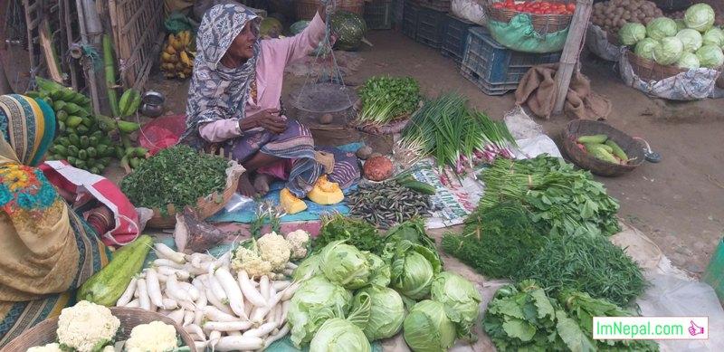 street vegetable shopper old aged female