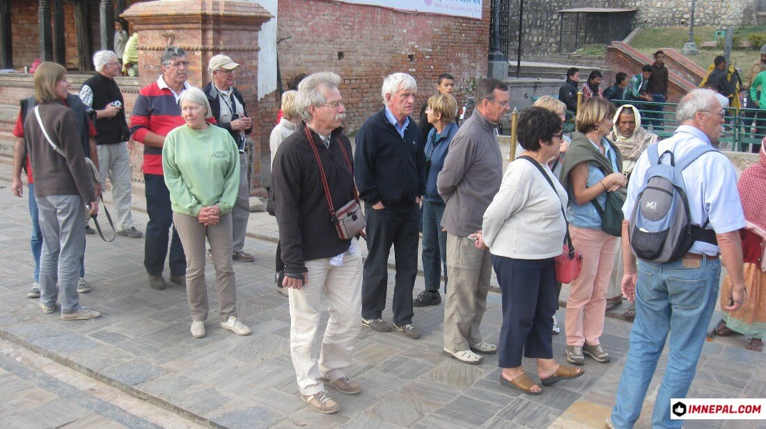 tourists Pashupatinath Temple Mandir Kathmandu Nepal World Heritage Sites Image