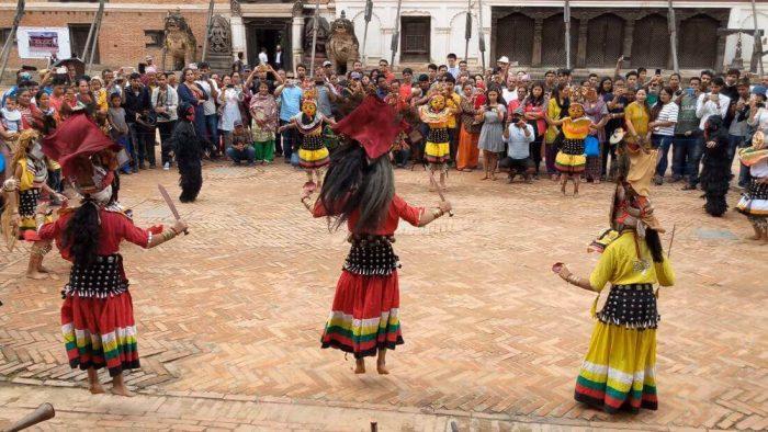 Devi Dance At Bhaktapur, Nepal