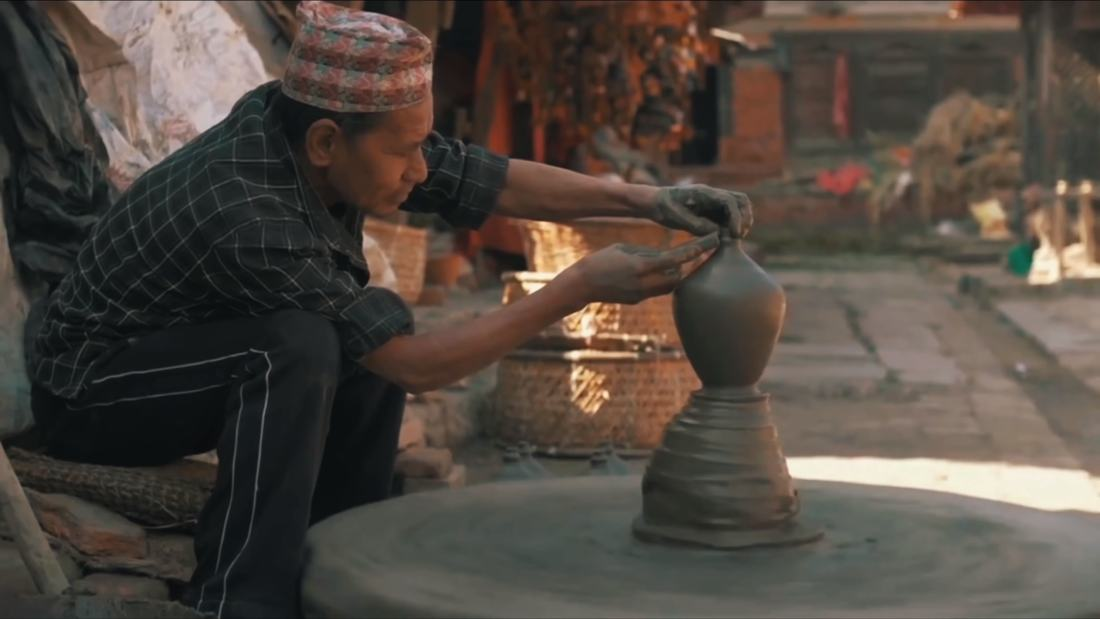 Soil Pottery making in bhaktapur