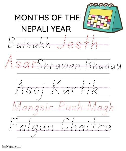 Name of Months in Nepali