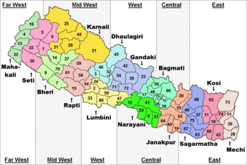 5 Development Regions of Nepal