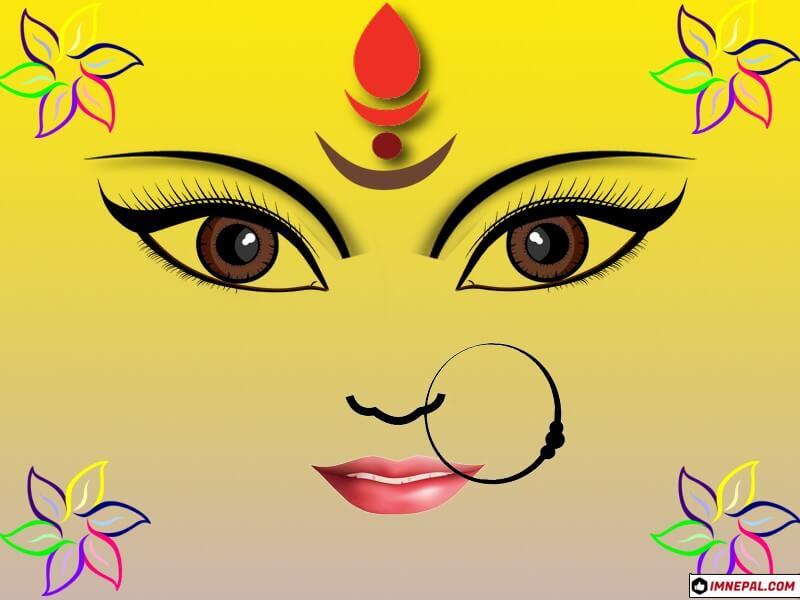 Goddess Durga Mata Eyes Design Images