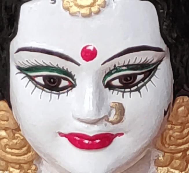 Goddess Durga Mata Eyes Face Image