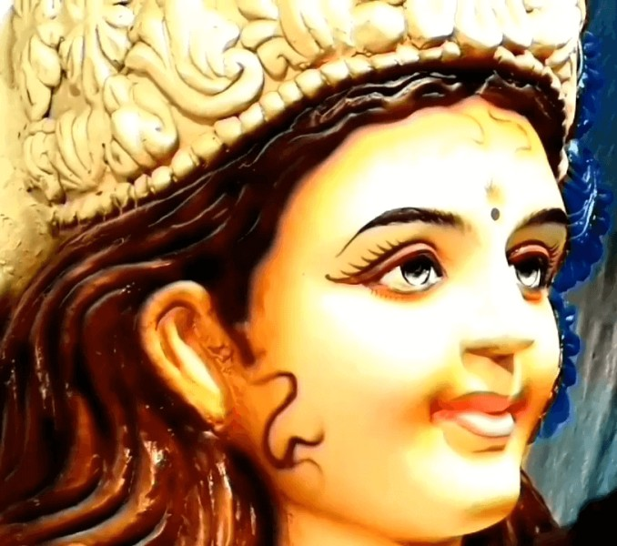 Goddess Durga Mata Eyes Face Photos