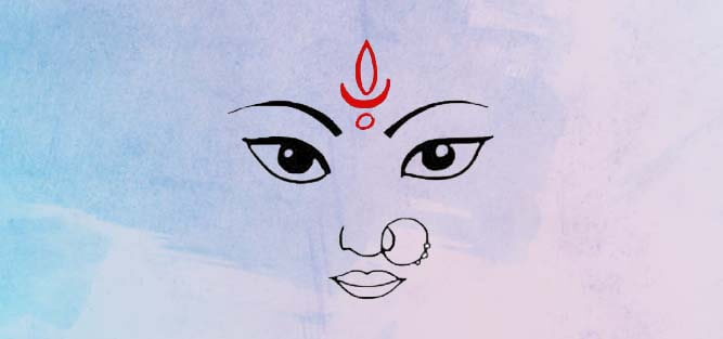 Goddess Durga Mata Eyes Pictures